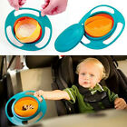 Baby Kid Non Spill Feeding Toddler Gyro Avoid Food Spilling 360 Rotating Bowl MI