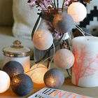 Colors COTTON BALL FAIRY LED STRING LIGHTS PARTY PATIO WEDDING Christmas DECOR