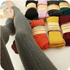 Womens Knit Winter Leggings Fashion Footed Warm Cotton Stockings Thick Pants