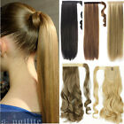 Kyпить US 100% Real New Clip In human Hair Extension Pony Tail Wrap Around Ponytail QW8 на еВаy.соm