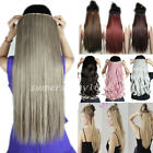 Long Wavy Straight Real Thick Clip in on Hair Extensions One Piece as human hn71