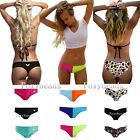 Bikini Bottom Split Joint Leopard Heart Cut Swimwear Bathing Suit Beach Thong
