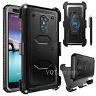 For ZTE ZMAX PRO/ZTE CARRY Hybrid Shockproof Belt Clip Holster Stand Case Cover