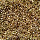 1000 500 100 3mm Gold Coloured Jewellery Making Craft Round Spacer Beads UK SELL