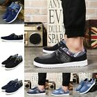 New Men Fashion Sneakers Canvas Flats Lace Up Casual Athletic Shoes