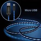 Visible Flowing LED USB Data Sync Charge Cable for iPhone 5/6 Samsung Android