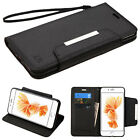 black wallet leather stand strap case cover For iPhone 7 & 7 Plus * latest NEW