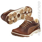 PUMA GOLF HERREN BIODRIVE LEATHER SCHUHE LEDER BISON BROWN-WHITE SWAN BRAUN