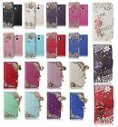 3D Bling Crystal Diamond Rhinestone Cute Leather Magnetic Flip Wallet Cover Case