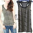 AU SELLER Womens Girls Leopard Animal Soft stretchy Sexy Singlet Tank Top t005