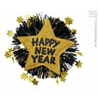 Happy New Year Brooch Jewellery for Eve Fancy Dress Accessory