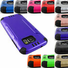 SAMSUNG GALAXY PHONE MODELS BRUSHED ARMOR CASE PROTECTIVE TPU SKIN COVER+STYLUS