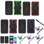 For Samsung Galaxy S6 Edge Armor Case w/ Holster Belt Clip Stand+Film+Stylus