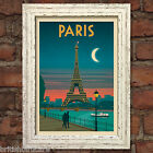 PARIS VINTAGE RETRO TRAVEL Poster Nostalgic Home Print Wall Art Decor #64