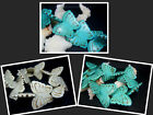 28x38MM White / Blue Howlite Turquoise Butterfly Loose Beads 10pcs 511-5