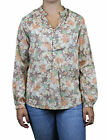 STEVEN ALAN Floral Print Long Sleeve Sydney Tunic Top WST0087CT NEW $198