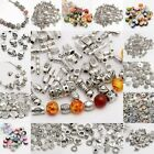 Lot Mixed Tibet Silver Beads Spacer For Jewelry making European Bracelet for diy
