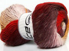Lot of 4 x 100gr Skeins Ice Yarns PRIMADONNA (50% Wool) Yarn Red Maroon Yellow W