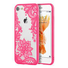 """FOR APPLE IPHONE 7 4.7"""" PINK FLORAL FLOWER SLIM REAR HARD CASE PHONE COVER"""