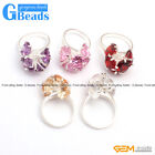 Fashion Jewelry 9mm Faceted Beads Tibetan Silver Flower Shape Ring Free Shipping