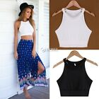 Women's Sleeveless Blouse Sexy Summer Shirt Crop Tops Halter Tank Vest CAMI New