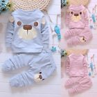 New Kids Toddler Baby Outfits T-shirt Tops Pants Leggings Clothes 2Pcs Set