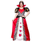 Ladies Queen of Hearts Costume for Royal Fancy Dress Womens