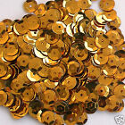 Sequins Gold #3 8mm Round Cup ~400 pieces or ~4,750 pieces Loose HQ