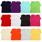 NEW Long Sleeve Baby T-shirt Top Boys Girls 0-18 Mths Envelope Neck 100% Cotton