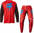 SHIFT WHITE LABEL NINETY SEVEN MENS ADULT RED RACE GEAR COMBO JERSEY PANTS MX