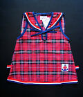 BABY GIRL Clothing DRESS, Red Check Tartan Dress, 100% Cotton for ages 0-4 Years