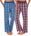 Ladies Lightweight Checked Pyjama Bottoms New Cotton Rich PJs Pink Blue UK 8-22
