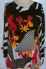 Valentina Top Multi Colored Ribbon Style 10420 Polly NWT  Size Large