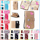For LG K10 K420N Finished DIY Gadget Case Anti-lost Strap PU Leather Cover
