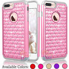Bling Crystal Rubber Protective Hard Case Cover for Apple iPhone 7 Plus 5.5""