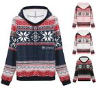 Meaneor Women fashion Casual Loose Print Hooded Pullover Sweatshirt Hoodie DZ88