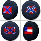 Select Your Confederate Logo Design Exact Fit Size Black Vinyl Spare Tire Cover