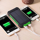 AU Waterproof 50000mAh External Solar Power Bank 2USB LED Backup Battery Charger