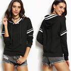 Women's Autumn Sweatshirt Hooded Pullover Loose Long Sleeve Patchwork Hoodie
