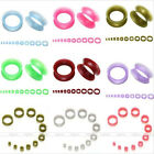 """8Ga-3/4"""" Ultra Thin Silicone Flared Ear Plugs Tunnel Expander Stretcher Piercing"""