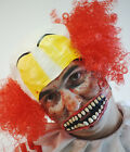 HALLOWEEN-Circus-Scary-Evil- TWISTED CLOWN SET Wig, Make up, Mouth & Sprit Glue