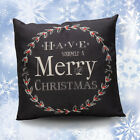 Living Room Christmas Letter Printed Linen Pillow Cases Throw Cushion Cover