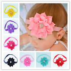 Baby Girls Lotus Flower Bow Hairband Soft Elastic Headband Hair Accessories JYL