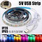 0.5M/1M/2M/3M USB 3528 LED SMD Strip Light TV Background Computer Waterproof 5V