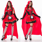 Little Red Riding Hood Halloween Costume Fancy Dress Cosplay Hen Party Outfit