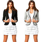 New Womens Slim Lapel Collar Casual Business Blazer Suit Jacket Coat Outwear Top