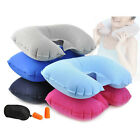 Car Flight Travel Soft Portable Inflatable Neck Rest Cushion U Pillow Support 9o