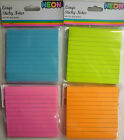 Pack of Lined Large Sticky Notes (90 Lined Sheets) Blue, Pink, Green, Orange