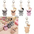 Cute rhinestone key chain owl car key accessories tassel bag pendant New TXST