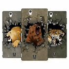 HEAD CASE DESIGNS ANIMAL RAMPAGE HARD BACK CASE FOR SONY PHONES 3